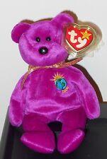 NM* Ty Beanie Baby RARE Millennium Bear NM w/ TAG ERRORS 1999 Millenium No Stamp