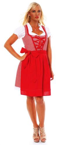 10590 Dirndl 3 tlg.Trachtenkleid Kleid Mini Bluse Schürze Trachten Oktoberfest