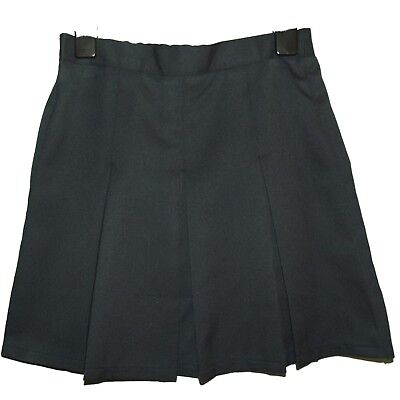 NEW GIRLS EX STORE NAVY PLEATED ADJUSTABLE WAIST SCHOOL SKIRT AGE 3-16 years A