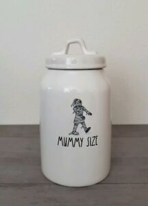 New-Rae-Dunn-by-Magenta-MUMMY-SIZE-Treat-Cookie-Jar-Canister-Halloween-Decor