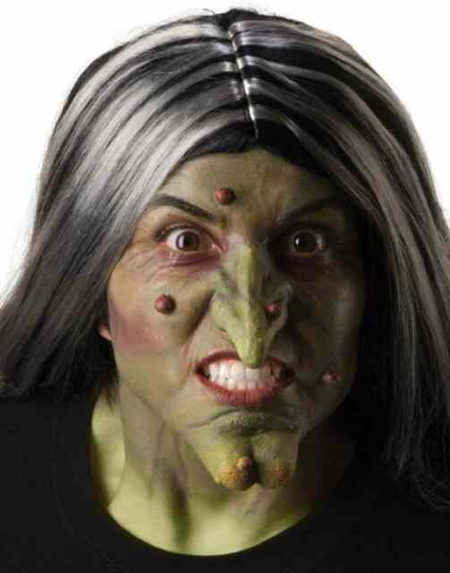 Stage Warts Witch Old Hag Fancy Dress Halloween Costume Makeup Latex Prosthetic