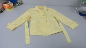 Gymboree-Bee-Chic-Solid-Yellow-Button-Up-Jacket-S-5-6-EUC-TL31
