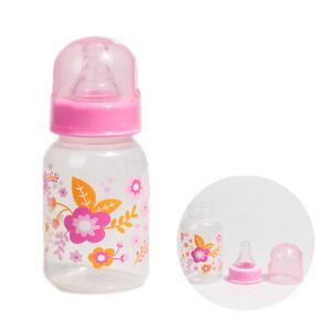 Reborn Baby Bottle Printed Empty Fake Milk Bottle For Baby Girl Doll Accessory