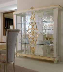 3 trg vitrine gocce glas gold italienische m bel hochglanz furniture glasschrank ebay. Black Bedroom Furniture Sets. Home Design Ideas