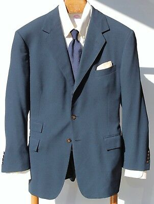 Polo Ralph Lauren 42R Gent's Navy Blue 3-Button Sport Coat - Ticket Pocket - USA