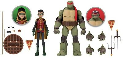 Dc Batman Vs Teenage Mutant Ninja Turtles Robin Raphael Action Figure 2 Pack 761941355498 Ebay