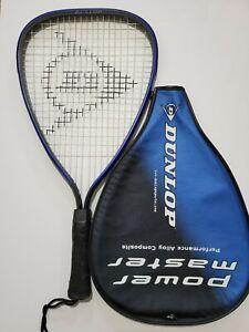 """Alerte Dunlop Power Master Racquetball Raquette Gro2206 00 3 7/8"""" W Case-afficher Le Titre D'origine Pour Convenir à La Commodité Des Gens"""