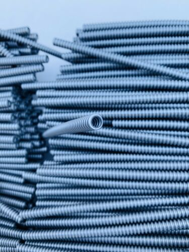 Hose Ribbed 7mm D 18L Flat Silver Grey Technic Tubes LEGO 2 Pipes Per Order