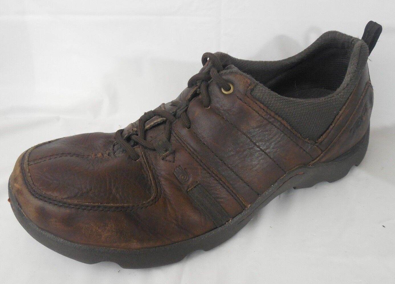 Teva Mens Kassler Waterproof Oxford shoes Hiking Trail 10 M Brown Leather Casual