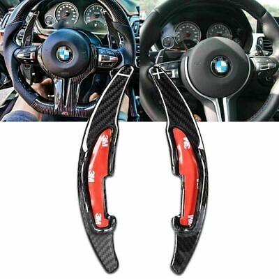 Topsmart Carbon Fiber Car Steering Wheel Shift Blade Paddle Shifter Extension For BMW Red