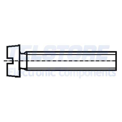 100pcs  Vite M4x6 Testa cilindrica Incisione a taglio ottone DIN 84 BOSSARD