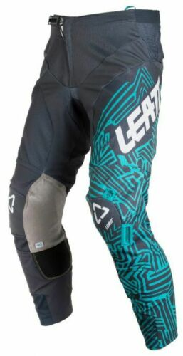 Teal Motocross ATV Enduro Off Road Riding Leatt Adult GPX 5.5 I.K.S Pants Grey