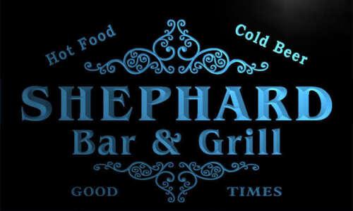 u41029-b SHEPHARD Family Name Bar /& Grill Home Decor Neon Light Sign