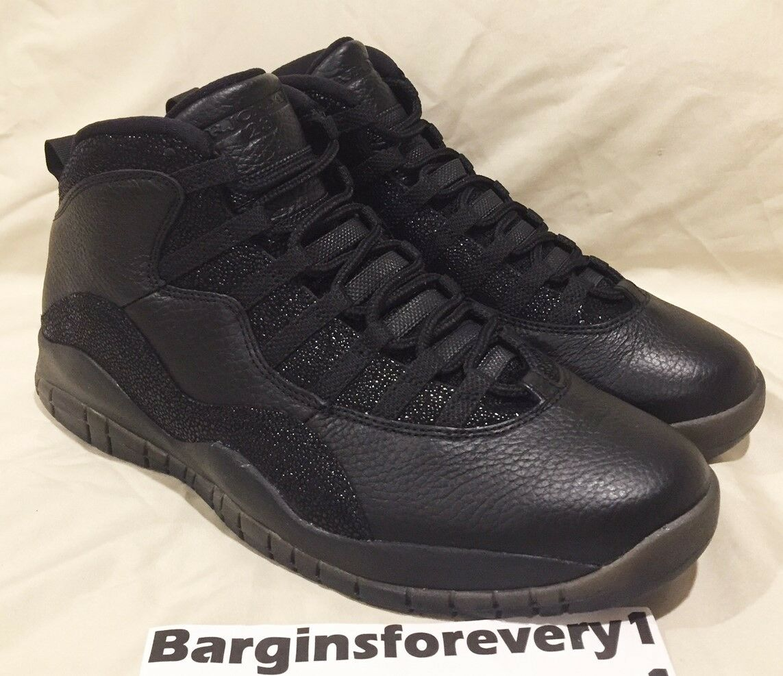 Air Jordan 10 Retro OVO All-Star - Size 11 - Black Metallic gold - 819955-030