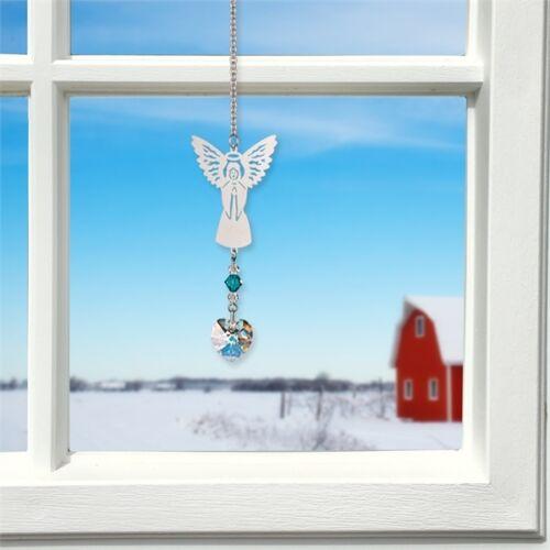 BAMY May Birthstone Angel Suncatcher Austrian Crystals Emerald