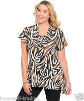 Plus Size Ladies Animal Print Glitter Top-pt2-kb4321