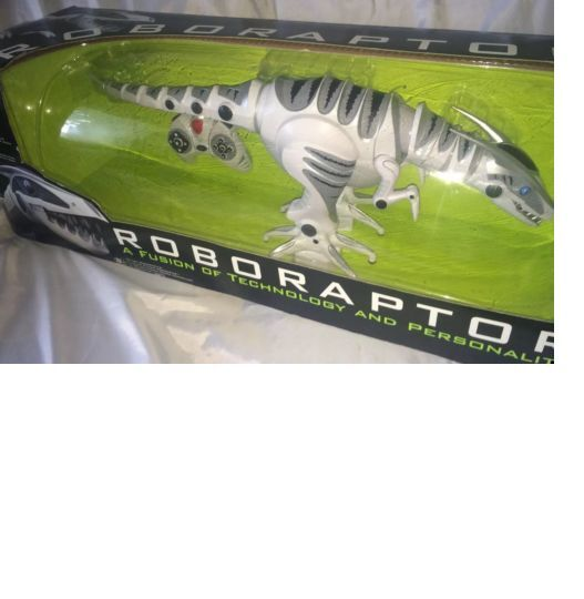 2005 WowWee Robotics Roboraptor 32  bianca Dinosaur with Remote Control