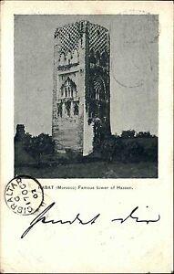 Rabat-Marokko-1902-Tower-of-Hassan-Turm-Viele-Stempel-u-a-Gibraltar-Casablanca