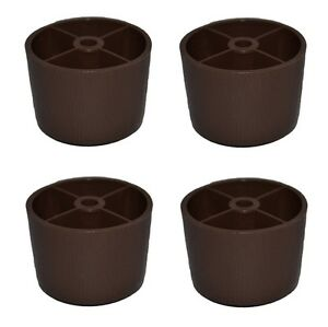 1 1 2 Quot Hdpe Round Plastic Brown Legs Screw Sofa Couch