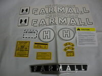 Ihc International Farmall Model H Tractor Decal Set & Front Emblem Free Ship