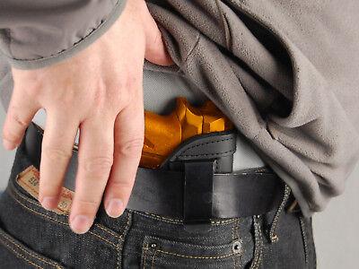 Black Leather Concealment Gun Pistol Holster Waist Pack TAURUS TCP 380 738