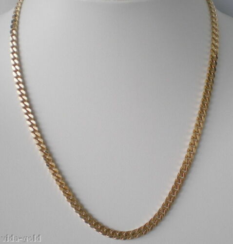 24K Gold Plated 5 MM Miami Cuban Link Chain Lifetime warranty