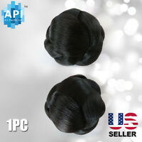 Hair Dome Bun Extension Pre-styled Synthetic Straight Pieces Bubble 01