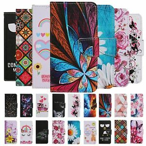 For Apple iphone 11 Pro Max 8 7 Case Painted Wallet Flip Card Stand Phone Cover