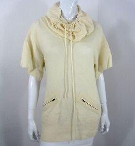 maglione alto corta Max Manica collo Azria avorio S a taglia Bcbg collo piccolo U80xCw0