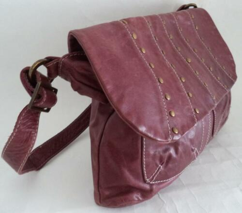 Bag Soft Shoulder Berry Red Plum Handbag Leather Hwgnq