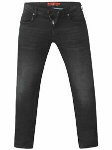 D555-Mens-Big-Size-Tapered-Fit-Stretch-Jeans-In-Grey-Stonewash-Benson