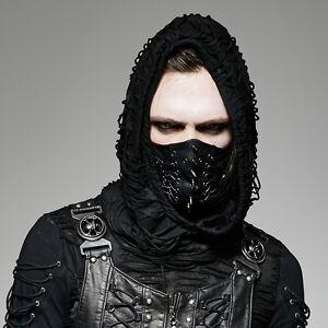Punk-Rave-Men-039-s-Gothic-Biker-Hannibal-Halloween-Gladiator-Cosplay-Black-Mask