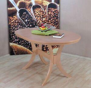 Auszugtisch Einlegplatte Buche Natur Massivholz Oval Esstisch