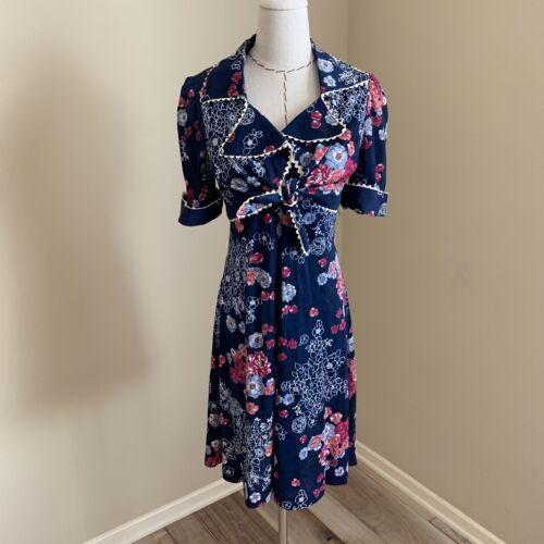 Vintage 70s Corky Craig Glam Rock Floral Dress & J