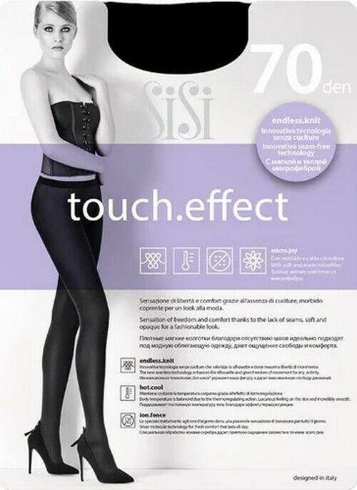 Sisi Touch Effect 70 Blickdichte Strumpfhose Süße Und Komfort Schwarz - Gr 2 Or