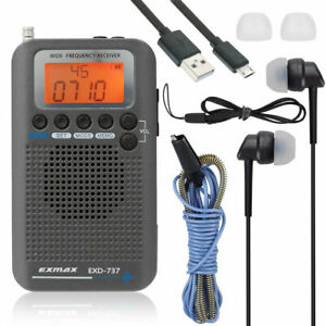 Aviation FM/AM/SW/AIR/CB Band Shortwave Radio Receiver NOAA Weather Radios