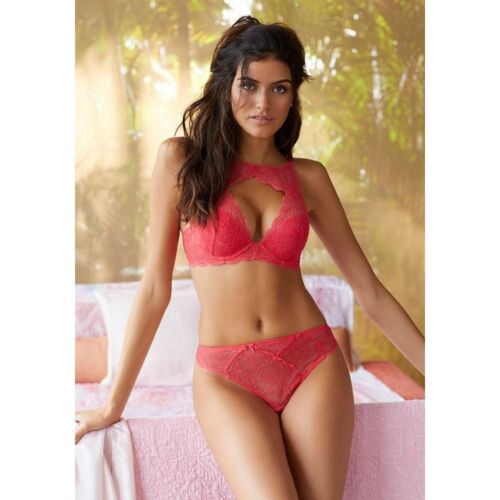 Lascana Padrona push up Bra in Coral  with front pannel size 32-38 C DD Cup