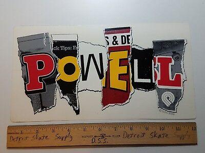 VTG 80/'s POWELL PERALTA TONY HAWK BIRD CLAW BONES NOS SKATEBOARD DECK STICKER !!