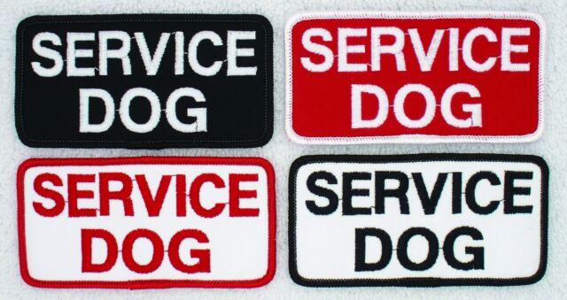 "Service Dog Patch 2X4"" Assistance Support Medical Disabled PTSD Vest Danny LuAnn"