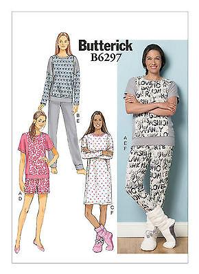 Butterick B6297 PATTERNMisses' Top, Dress, Shorts, Pants & Lounge Socks XSM-XXL