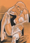 Paco Baidal EMMA FROST Pinup Drawing Original Art (X-Men)