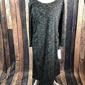 c4a27998eb99e LIZ LANGE MATERNITY Dress Black Ebony Space Dye Tank Sleeveless ...