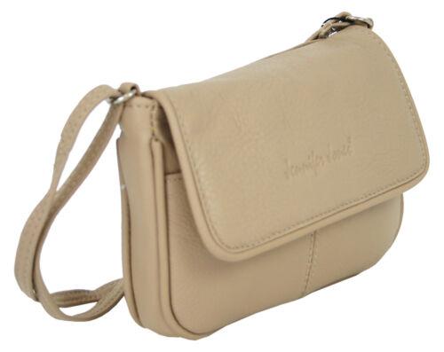Kleine Crossbody Umhängetasche Leder Schultertasche Damen Handtasche in Beige