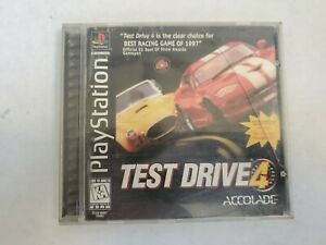 ☆ Test Drive 4 (Sony PlayStation 1 1997) PS1 COMPLETE in Box Manual Case Game ☆