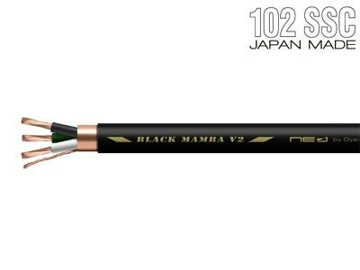 OYAIDE BLACK MAMBA V2 Power Cable  by 1m per 1 meter japan F//S
