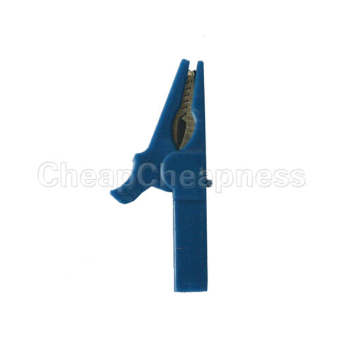 6X 55mm Alligator Clip for 4mm Banana PLUG Test cable Probes Insulate Clamp/_ZT