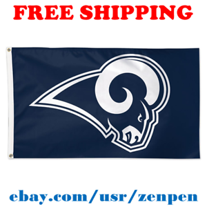 Deluxe-Los-Angeles-Rams-Team-Logo-Flag-Banner-3x5-ft-NFL-Football-2019-NEW