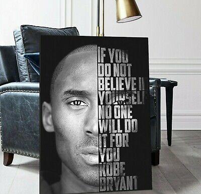 Kobe Bryant Quote Poster, Kobe Bryant Canvas, Mamba Mentality Definition |  eBay