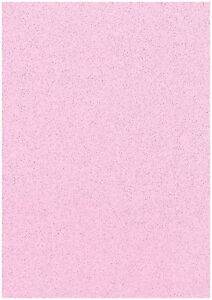 Pack-Of-10-Sheets-Soft-Baby-Pink-A4-Stardust-Sparkling-Glitter-Card-285gsm-Craft