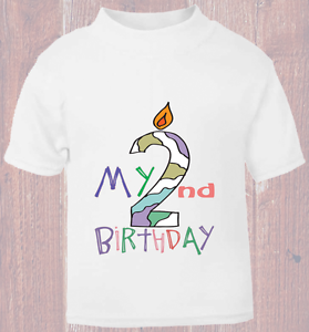 Image Is Loading Young Childs My 2nd Second Birthday T Shirt
